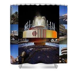 Collage Of Tel Aviv Israel Shower Curtain by Ilan Rosen