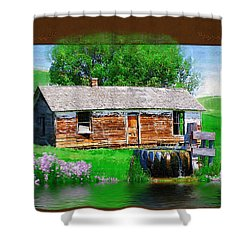 Shower Curtain featuring the photograph Collage by Susan Kinney