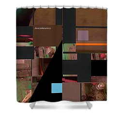 Shower Curtain featuring the mixed media Collage1 by Andrew Drozdowicz