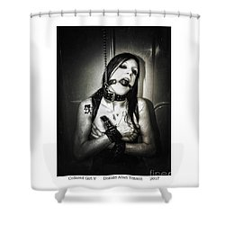 Collared Girl V Shower Curtain by Donald Yenson
