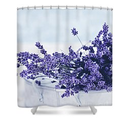 Shower Curtain featuring the photograph Collection Of Lavender  by Stephanie Frey