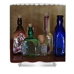 Collection Of Vintage Bottles Photograph Shower Curtain