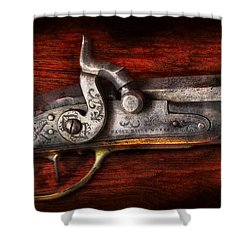 Collector - Gun - Rifle Works  Shower Curtain by Mike Savad