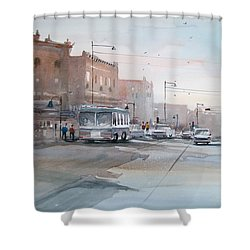 College Avenue - Appleton Shower Curtain by Ryan Radke
