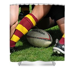 Collegiate Women's Rugby Shower Curtain