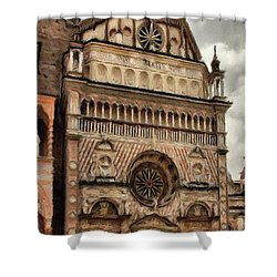 Colleoni Chapel Shower Curtain by Jeff Kolker