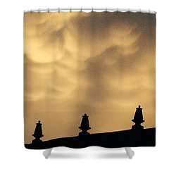 Collides With Beauty Shower Curtain