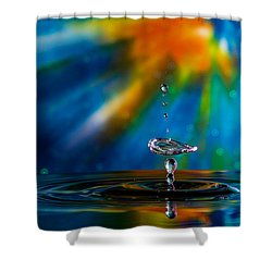 Collision 55 Shower Curtain by Jay Stockhaus