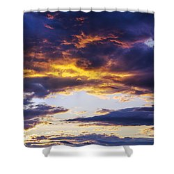 Shower Curtain featuring the photograph Coloful Clouds by Alana Ranney