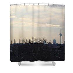 Cologne Skyline  Shower Curtain by Michael Paszek