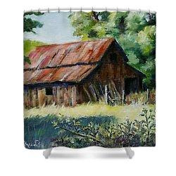 Coloma Barn Shower Curtain