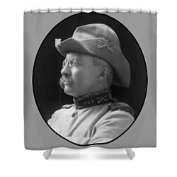 Colonel Roosevelt Shower Curtain by War Is Hell Store