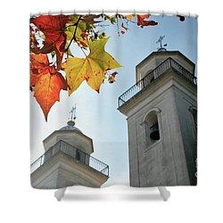 Shower Curtain featuring the photograph Colonia Del Sacramento Church by Bernardo Galmarini