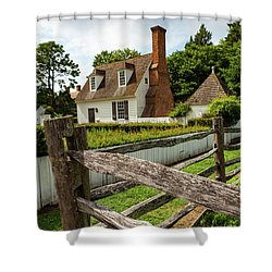 Colonial America Home Shower Curtain