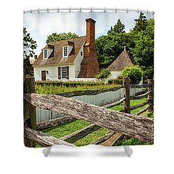 Colonial America House Shower Curtain