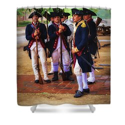Shower Curtain featuring the photograph Colonial Army  ... by Chuck Caramella
