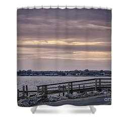 Shower Curtain featuring the photograph Colonial Beach Virginia Waterfront   by Melissa Messick