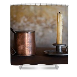 Shower Curtain featuring the photograph Colonial Era Necessities by Stephen Flint