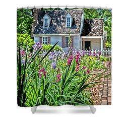 Colonial Garden1 Shower Curtain
