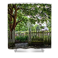 Colonial Gardens 3 Shower Curtain