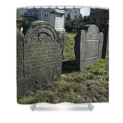 Colonial Graves At Phipps Street Shower Curtain