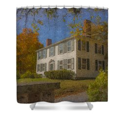 Colonial House On Main Street, Easton Shower Curtain