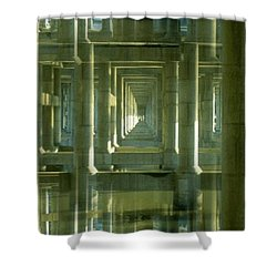 Colonnade Park Seattle Shower Curtain by Tim Allen