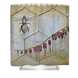 Colony Collapse Disorder Shower Curtain by K Llamas