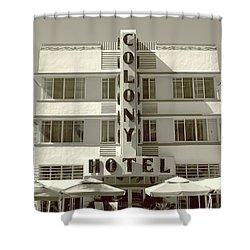Colony Hotel South Beach Shower Curtain