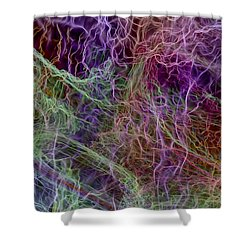 Shower Curtain featuring the digital art Color Abstract Smoke by Matt Lindley