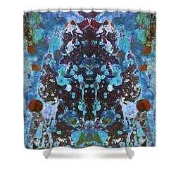Color Abstraction Iv Shower Curtain by David Gordon