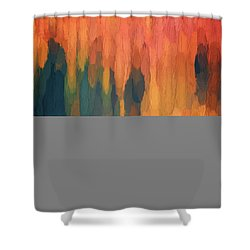 Shower Curtain featuring the digital art Color Abstraction L Sq by David Gordon