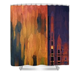 Color Abstraction Liv Shower Curtain