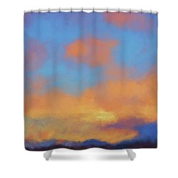 Shower Curtain featuring the digital art Color Abstraction Lvii by David Gordon