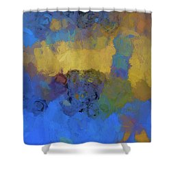 Shower Curtain featuring the digital art Color Abstraction Lviii by David Gordon