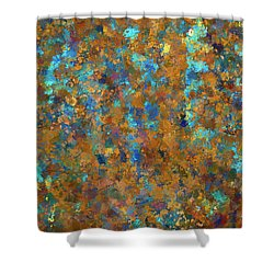 Color Abstraction Lxxiv Shower Curtain