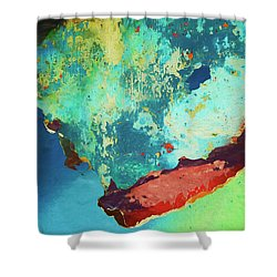 Color Abstraction Lxxvi Shower Curtain by David Gordon