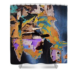 Color Abstraction Lxxvii Shower Curtain by David Gordon