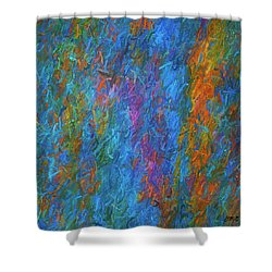 Color Abstraction Xiv Shower Curtain by David Gordon