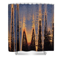 Color Abstraction Xl Shower Curtain