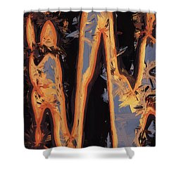 Color Abstraction Xli Shower Curtain by David Gordon