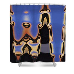 Color Abstraction Xliii Shower Curtain by David Gordon