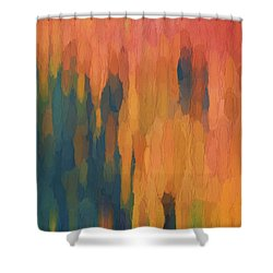 Color Abstraction Xlix Shower Curtain by David Gordon