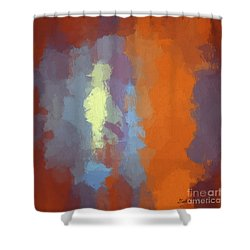 Color Abstraction Xxiii Sq Shower Curtain