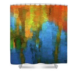 Color Abstraction Xxxi Shower Curtain
