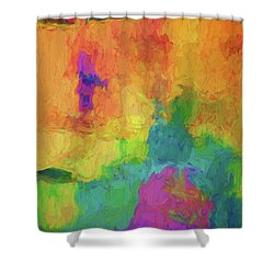 Color Abstraction Xxxiv Shower Curtain by David Gordon
