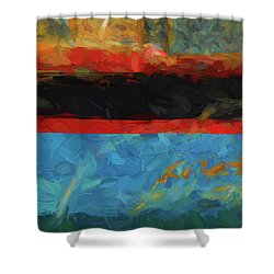 Color Abstraction Xxxix Shower Curtain by David Gordon