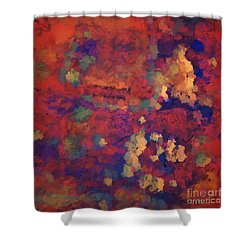 Color Abstraction Xxxv Shower Curtain by David Gordon