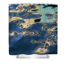 Color Abstraction Xxxvii - Painterly Shower Curtain by David Gordon