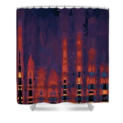 Color Abstraction Xxxviii Shower Curtain by Dave Gordon